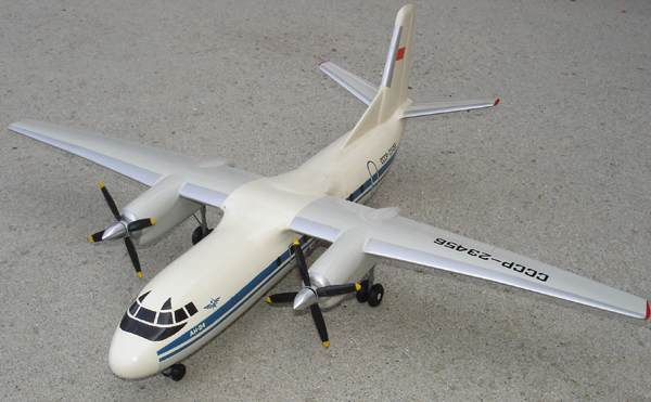 # antp088 An-24 Aeroflot classic old Antonov model 1
