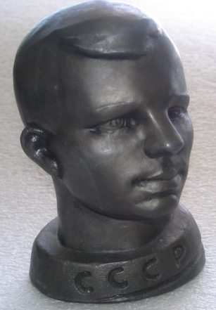 # sscp097 Yuri Gagarin metal bust from 60's 1