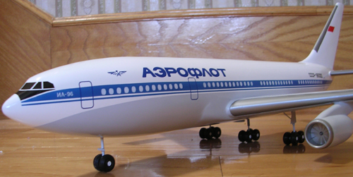 # ip087            Il-96-300 Ilyushin factory 1/100 model 3