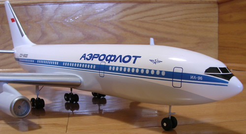 # ip087            Il-96-300 Ilyushin factory 1/100 model 5
