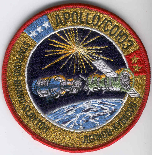 # aup116            Apollo-Soyuz Test Project patch signed by A.Leonov 1