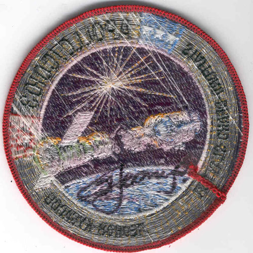 # aup116            Apollo-Soyuz Test Project patch signed by A.Leonov 2