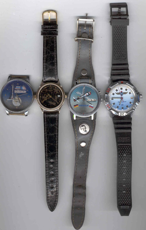 # un253            Commemorative wrist watches from Baikonur 1