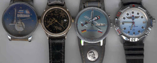 # un253            Commemorative wrist watches from Baikonur 2