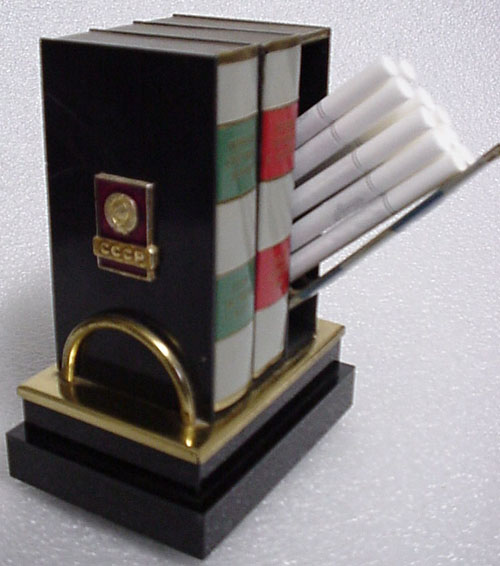 # un261            Music box-books shaped cigarette holder 1