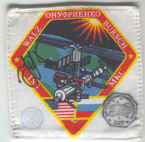 # fp075            ISS-4 expedition EVA flown patch 1