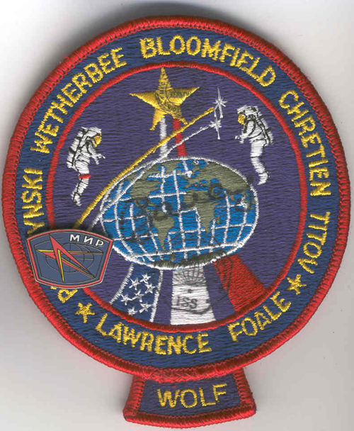 # fp085            STS-86 patch with MIR badge 1