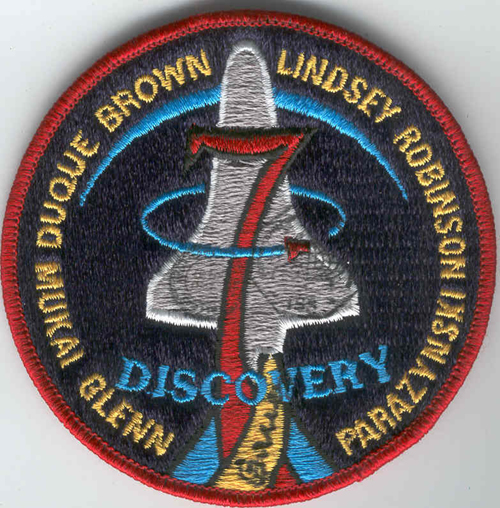 # fp083            STS-95 patch flown on ISS 1