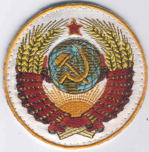 # fp080            Soyuz TM-3/MIR Crest patch of Alexandrov 1