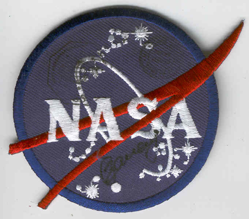 # fp090            NASA patch flown with cosmonaut Zaletin on IS 1