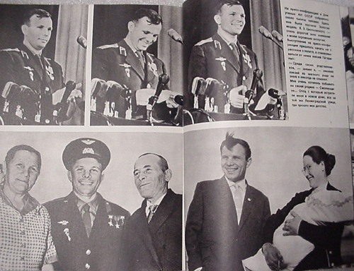 # cb203            Gagarin book autographed by 7 cosmonauts 4