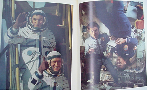 # cb210            3 cosmonauts autographed Space Cooperation book 4