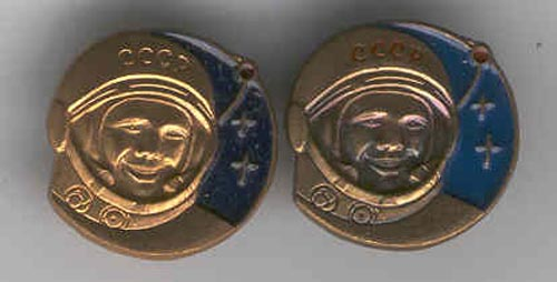 # pf099            Yuri Gagarin pins flown on Soyuz TMA-2/ISS 1