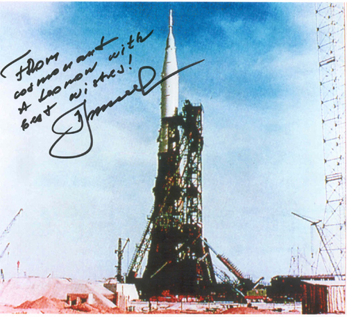 # iph502            N-1 rocket photos signed-notared by Alexei Leonov 2