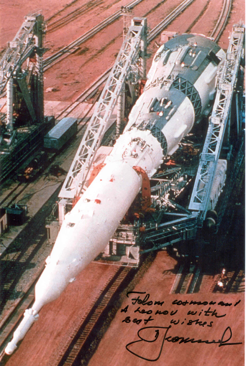 # iph502            N-1 rocket photos signed-notared by Alexei Leonov 3