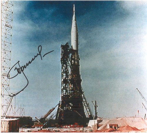 # iph500            N-1 Moon manned rocket photos signed by Leonov 2