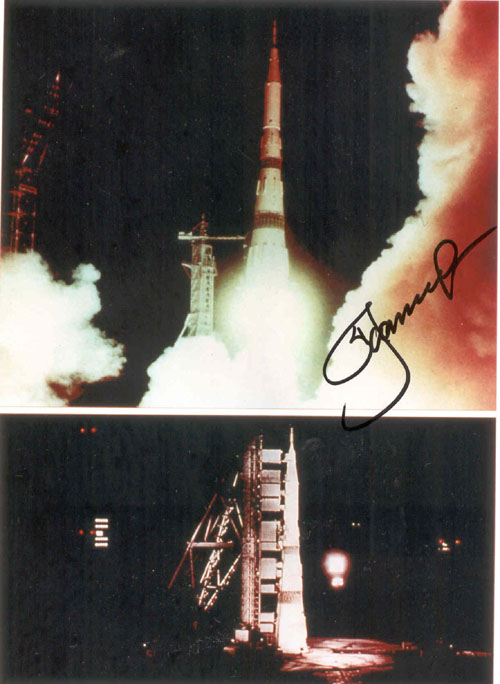 # iph500            N-1 Moon manned rocket photos signed by Leonov 3