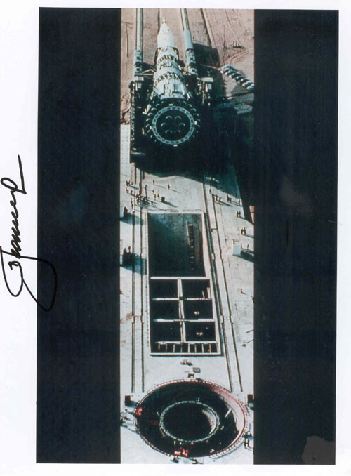 # iph500            N-1 Moon manned rocket photos signed by Leonov 4