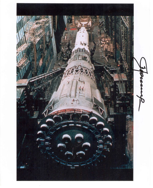 # iph501            N-1 rocket assembling photos signed by Leonov 1