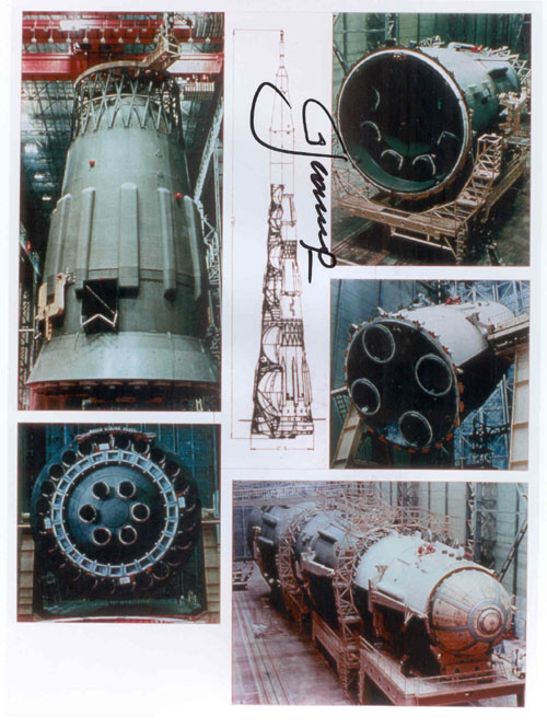 # iph501            N-1 rocket assembling photos signed by Leonov 2