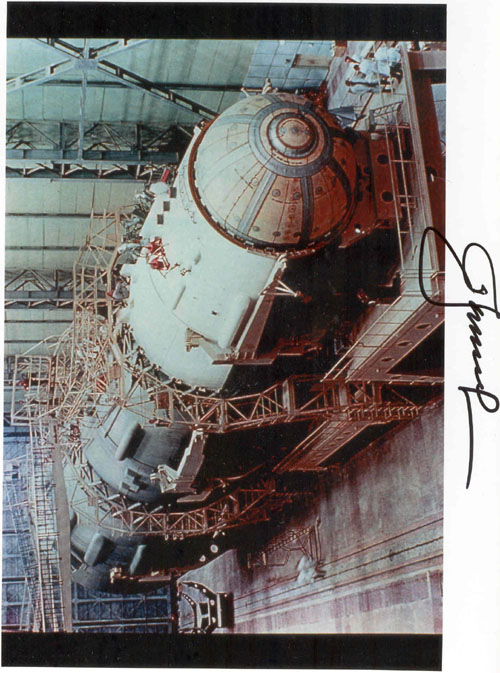 # iph501            N-1 rocket assembling photos signed by Leonov 3