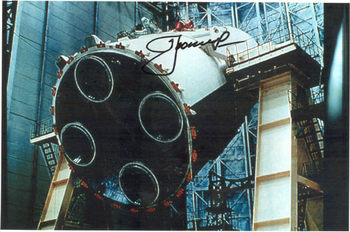 # iph501            N-1 rocket assembling photos signed by Leonov 4