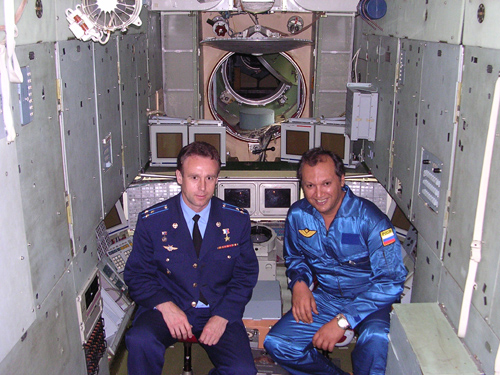 # ci300            On board MIR station and near Soyuz TMA with cosmonaut Sergei Zaletin 1