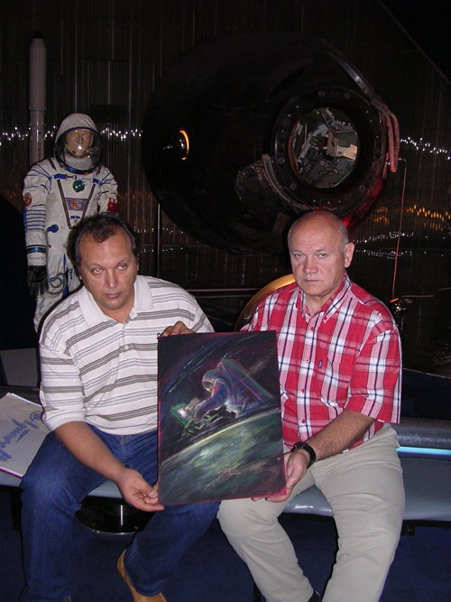 # ci307            With General Vladimir Dzhanibekov in the Memorial Museum of Cosmonautics 1