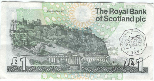# fb312            Scotland One Pound bill flown on ISS 1
