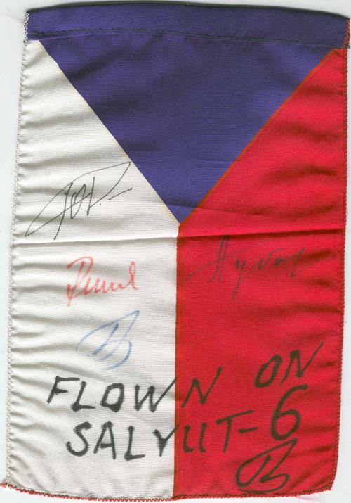 # ff105            Soyuz-28/Salyut-6 flown Czechoslovakian flag 1