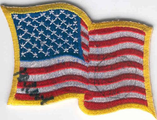 # ma302            USA flown flag patch 1