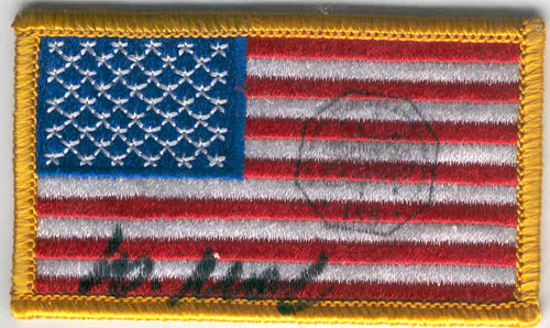# ma303            United States flown flag patch 1