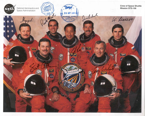 # ma230            STS-106 crew signed print flown on ISS 1
