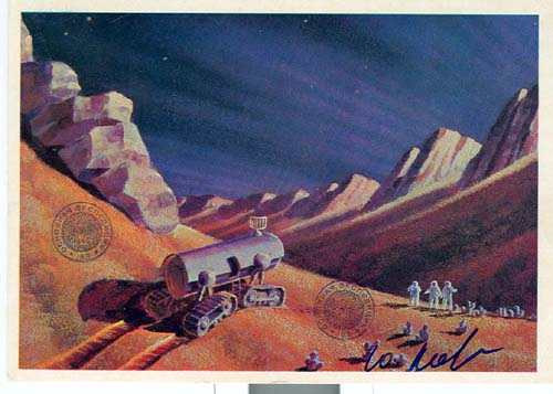 # ma612            A.Leonov artwork card In A Martian Crater 1