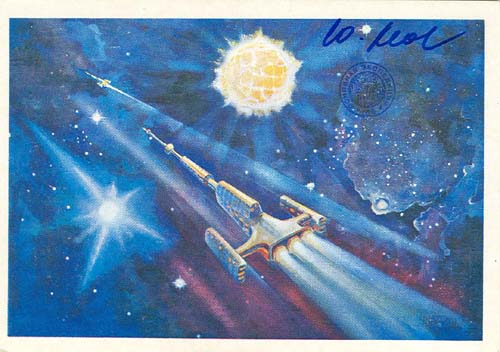 # ma616            A.Leonov artwork card Golden Cepheus 1