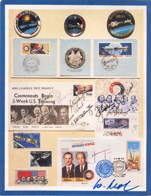 # ma352            ASTP memorabilia card flown on ISS 1