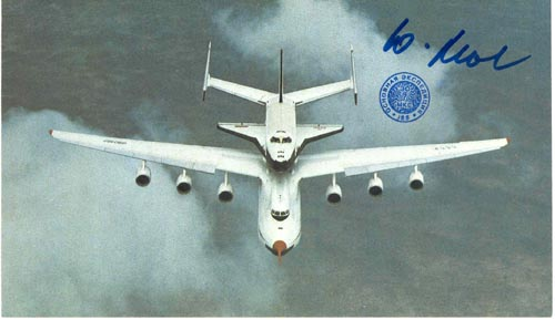 # ma370b            Antonov-225/Buran flown card 1