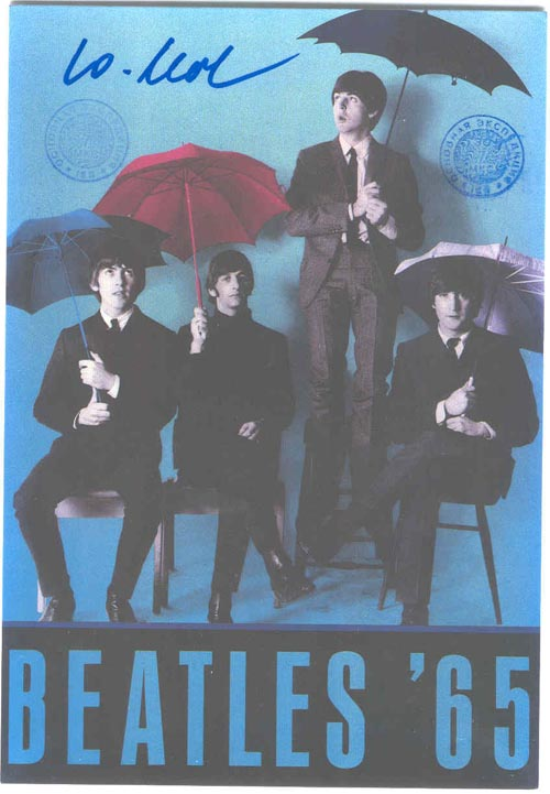 # ma299c            ISS flown The Beatles cards 2