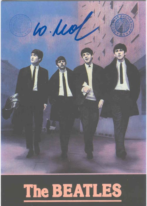 # ma299c            ISS flown The Beatles cards 3