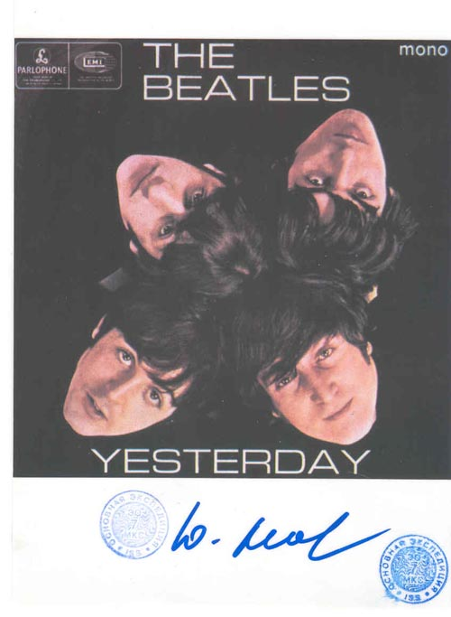 # ma299e            Soyuz TMA-2/ISS flown The Beatles cards 1