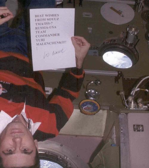 # ma250            Cosmonaut Malenchenko personal flown patch 2