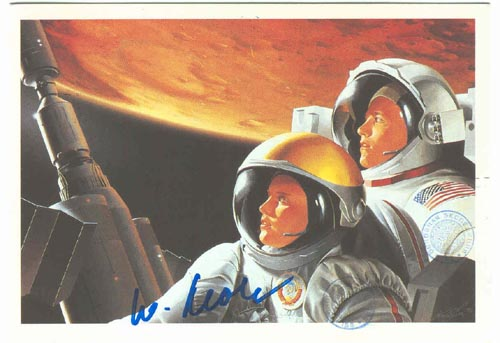 # ma601            Together To Mars artwork card flown on ISS 1