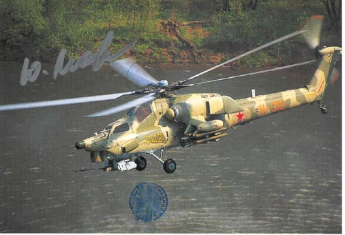 # ma374            Mi-28 Combat helicopter card 1