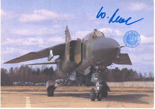 # ma375            Mig-23 multipurpose fighter aircraft card 1