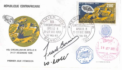 # ma504            Apollo-8 cover flown on ISS 1
