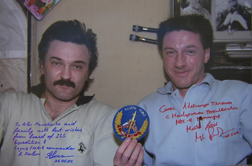 # kf100            ISS-8 crew Foale and Kaleri 1