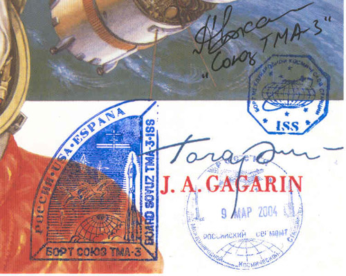 # kf101            A History of Soyuz TMA-3/ISS onboard handstam 2