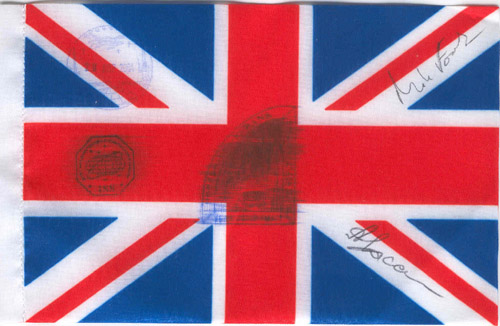 # kf104            UK flag flown on ISS and Soyuz TMA-3 1