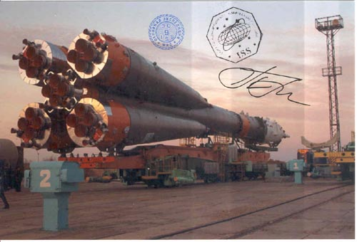 # gp928            Soyuz delivery to launch pad flown photo 1