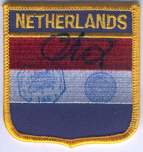 # gp501            The Netherlands flown flag patch 1